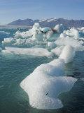 Icebergs in the Glacial Melt Water Lagoon, Jokulsarlon Breidamerkurjokull, South Area, Iceland