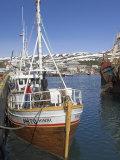 Old Trawler in Husavik Harbour, Skjalfandi Bay, North Area, Iceland, Polar Regions