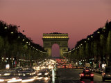 Avenue Des Champs Elysees and the Arc De Triomphe, Paris, France