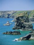 Rock Stacks, Bedruthan, Cornwall, England, United Kingdom