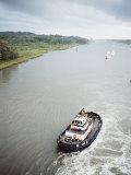 Manoeuvering Tugs, Panama Canal, Panama, Central America