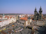 Old Town Square and Church of Our Lady Before Tyn, Prague, Czech Republic