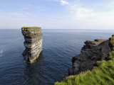 Sea Stack at Downpatrick Head, Near Ballycastle, County Mayo, Connacht, Republic of Ireland