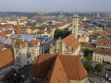 View of the City from the Tower of Peterskirche, Munich, Bavaria, Germany
