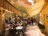 Cafe in the Old Town, Monaco, Cote d'Azur