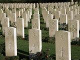 War Cemetery, 1939-1945, World War II, Bayeux, Basse Normandie (Normandy), France