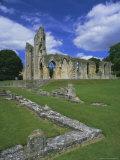 Ruins of Glastonbury Abbey, Glastonbury, Somerset, England, UK