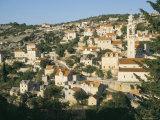 Town of Lozisca Above Steep Ravine, Lozisca, Brac Island, Dalmatia, Croatia