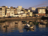 Town Across Fishing Boat Harbour, Finisterre (Fisterra), Galicia, Spain