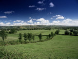 The Mendip Hills from Wedmore, Somerset, England, United Kingdom