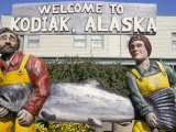 Welcome Sign, Kodiak Island, Kodiak, Alaska, USA
