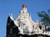 Gaudi's Mosaic House, Guell Park, Barcelona, Catalonia, Spain