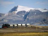 Old Colliery Locomotive, Ny Alesund, Spitsbergen, Norway, Scandinavia