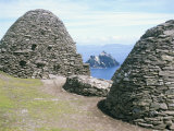 Stone Beehive Huts, Skellig Michael, Unesco World Heritage Site, County Kerry, Republic of Ireland