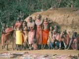 Masai Women and Children, Kenya, East Africa, Africa