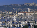 Marina and City Centre, Toulon, Var, Cote d'Azur, Provence, France, Mediterranean