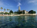 Franciscan Monastery and Beach, Hvar Town, Hvar Island, Dalmatia, Croatia