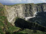 The Cliffs of Moher, Looking Towards Hag's Head from O'Brian's Tower, County Clare, Eire