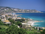 Elevated Beach Front and Town View, Diano Marina, Italian Riviera, Liguria, Italy