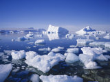 Icebergs and Brash Ice, Antarctica, Polar Regions