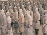 Terracotta Figures from 2000 Year Old Army of Terracotta Warriors, Xian, Shaanxi Province, China