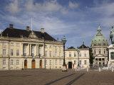 Amalienborg Square, with Palace and Marble Church, Copenhagen, Denmark, Scandinavia