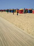 La Planche (Boadwalk) and Beach, Deauville, Calvados, Normandy, France
