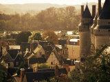 Chateau and Town, Langeais, Indre-Et-Loire, Loire Valley, Centre, France