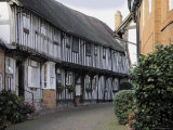 Half Timbered Tudor Buildings, Malt Mill Lane, Alcester, Warwickshire, Midlands, England