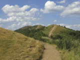 Footpath Along the Main Ridge of the Malvern Hills, Worcestershire, Midlands, England