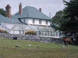 Exterior of Government House, Stanley, Falkland Islands, South America