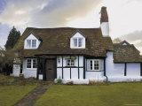 Half Timbered Cottage in Village of Welford on Avon, Warwickshire, England, United Kingdom