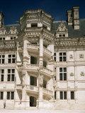 Staircase, Chateau of Blois, Loir-Et-Cher, Centre, France