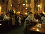 Interior of Cafe Pub, Brussels, Belgium