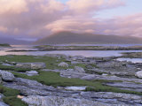 View Towards the Isle of Lewis and Old Schoolhouse, Taransay, Outer Hebrides, Scotland