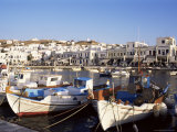 Harbour with Fishing Boats, Mykonos Town, Island of Mykonos, Cyclades, Greece