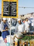 Food Stalls, Djemaa El Fna, Marrakesh, Morocco, North Africa, Africa
