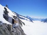 Jungfraujoch, 3454 M, and Aletsch Glacier, Bernese Oberland, Swiss Alps, Switzerland