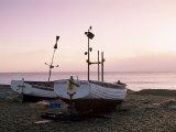 Boats and Beach at Dawn, Aldeburgh, Suffolk, England, United Kingdom