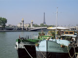 River Seine at Port Des Champs Elysees, Paris, France
