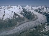 Aletschglacier, Bernese Alps from South, Switzerland