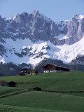 Kaiser Gebirge Mountain Range from the South, Above Ellmau, Tirol, Austrian Alps, Austria