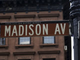 Madison Avenue Street Sign, Manhattan, New York City, New York, USA