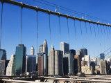 Manhattan Skyline from the Brooklyn Bridge, New York City, New York, USA