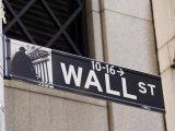 Wall Street Sign Manhattan, New York City, New York, USA