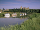 River Arun and Castle, Arundel, West Sussex, England, United Kingdom