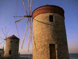 Windmills, Rhodes Harbour, Rhodes, Dodecanese Islands, Greece