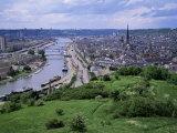 River Seine and Rouen, Seine Maritime, Haute Normandie (Normandy), France