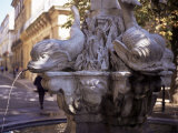 Fountain of Four Dolphins, Aix En Provence, Bouches Du Rhone, Provence, France