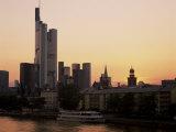 City Skyline at Sunset, Frankfurt Am Main, Germany